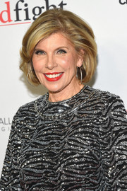 Christine Baranski styled her hair into an elegant bob for the world premiere of 'The Good Fight.'