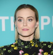 Taylor Schilling kept it fuss-free with this short straight cut at the New York premiere of 'The Public.'
