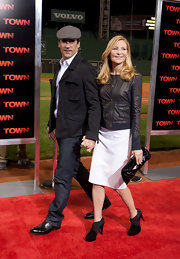 Jennifer Westfeldt went for a tough-chic look with a pair of black ankle boots and a leather jacket at the premiere of 'The Town.'