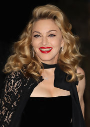 Madonna wore her hair with loads of volume and lots of curl at the UK premiere of 'W.E.'