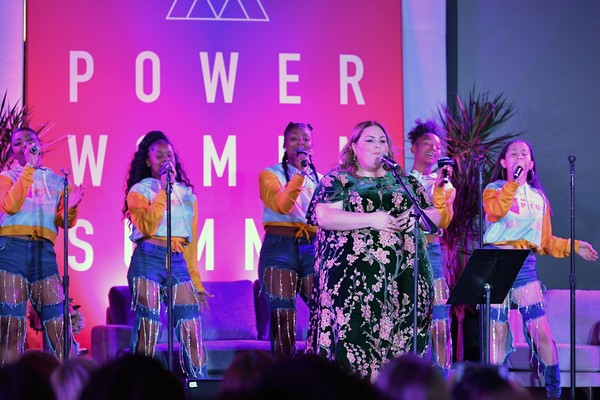 More Pics of Chrissy Metz Medium Curls (1 of 9) - Medium Curls Lookbook - StyleBistro [performance,entertainment,performing arts,event,purple,public event,talent show,stage,fun,performance art,chrissy metz,fairmont miramar hotel,santa monica,california,thewrap,power women summit]