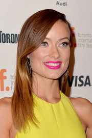 Olivia Wilde looked flawless with her sleek straight side-parted 'do at the premiere of 'Third Person.'