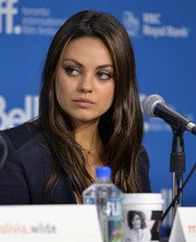 Mila Kunis sported a stylish layered cut at the 'Third Person' press conference during TIFF.