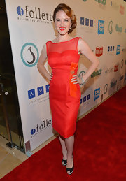 Sarah Drew exuded elegance in this red cocktail dress atthe Thirst Project Gala.