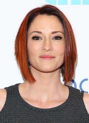 Chyler Leigh looked tres cool with her graduated bob at the Thirst Project World Water Day press conference.