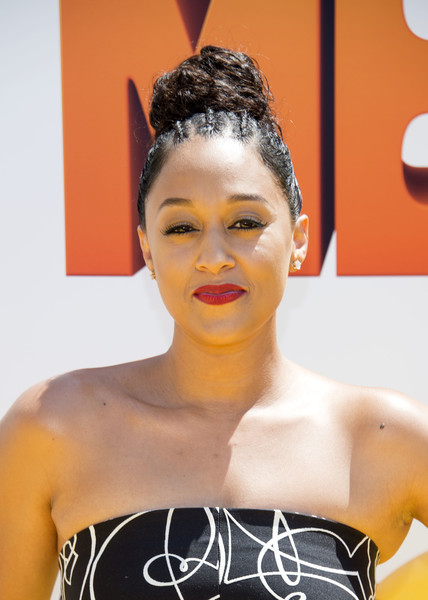 Tia Mowry Braided Bun Hair Lookbook