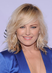 Malin Akerman was fabulously coiffed with messy-sexy waves and side-swept bangs at the Tribeca Film Fest premiere of 'The Ticket.'
