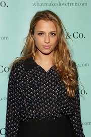 Charlotte Ronson attended the launch of Tiffany's True Love in Picture's gallery wearing her hair long with soft waves.