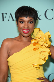 Jennifer Hudson styled her hair into an edgy pixie for the Tiffany & Co. Blue Book Collection Gala.