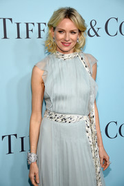 Naomi Watts showed off a luxurious diamond cuff bracelet by Tiffany & Co. during the jeweller's Blue Book Gala.