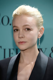 Carey Mulligan's platinum locks looked sleek and sophisticated, just like the rest of her red carpet look, when pulled back into a tight bun.