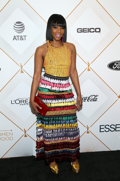 Tiffany Haddish Fringed Skirt []