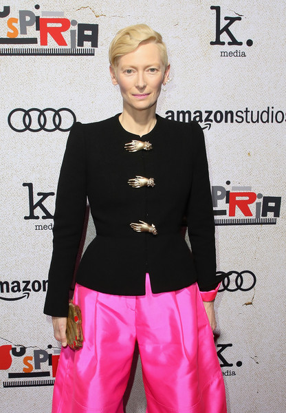 Tilda Swinton Metallic Clutch