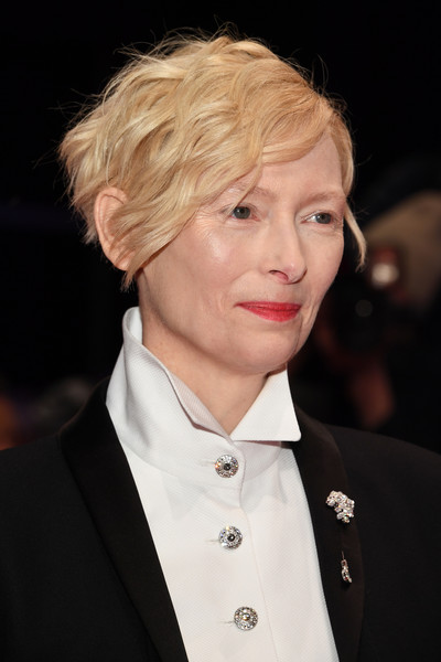 Tilda Swinton Short Wavy Cut [film,hair,human hair color,hairstyle,eyebrow,blond,beauty,fashion model,chin,fashion,smile,tilda swinton,hair,hairstyle,opening ceremony isle of dogs,red carpet,berlinale international film festival,premiere,film festival,berlinale international film festival berlin,tilda swinton,isle of dogs,68th berlin international film festival,premiere,venice film festival,film festival,film,hairstyle,short hair,model]