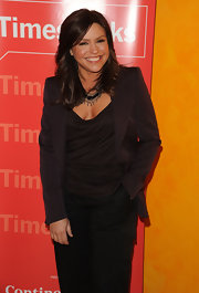 Rachael Ray was fabulous in a plum blazer.