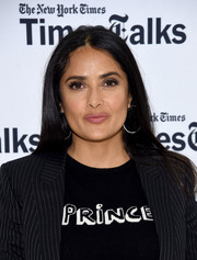 Salma Hayek kept it laid-back with this loose straight hairstyle while attending TimesTalks: The Allegory of 'Beatriz at Dinner.'