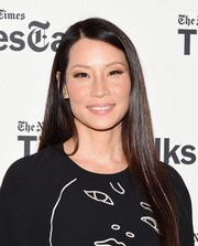 Lucy Liu sported glossy, straight tresses when she attended TimesTalks.
