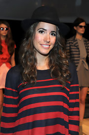 Louise Roe gave her look boyish charm with a black wool fedora.