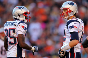 Tom Brady Chad Johnson New England Patriots v Denver Broncos