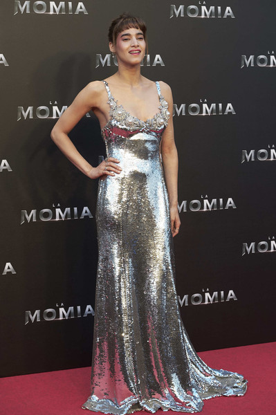 More Pics of Sofia Boutella Sequin Dress (1 of 18) - Dresses & Skirts Lookbook - StyleBistro [the mummy madrid premiere,cinema,dress,gown,clothing,shoulder,fashion model,carpet,red carpet,neck,hairstyle,joint,sofia boutella,tom cruise attends,madrid,spain,callao,premiere]