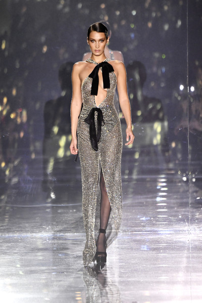 More Pics of Bella Hadid Over the Knee Boots (2 of 8) - Boots Lookbook - StyleBistro [image,fashion model,fashion,fashion show,runway,clothing,haute couture,public event,event,fashion design,dress,bella hadid,nudity,runway,california,hollywood,milk studios,tom ford aw20 show - runway,bella hadid,new york fashion week,runway,fashion,fashion show,fashion week,model,vogue,supermodel,haute couture]