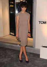 Michelle Monaghan wore black enamel and sapphire bangles to the Tom Ford Beverly Hills Flagship store opening.
