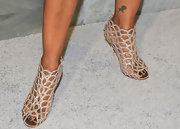 Garcelle Beavais sparkled in funky fish scale cutout pumps at the Project Angel Food event in Beverly Hills.