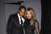 In this handout provided by Tom Ford, rapper Jay Z and singer Beyonce attend the TOM FORD Autumn/Winter 2015 Womenswear Collection Presentation at Milk Studios on February 20, 2015 in Los Angeles, California.