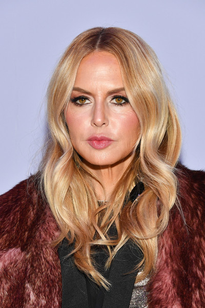Rachel Zoe attended the Tom Ford fashion show wearing her signature boho waves.