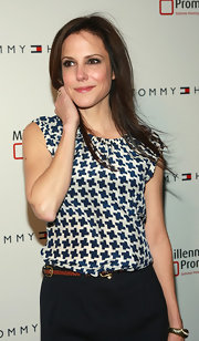 Mary-Louise Parker wore a print blouse to an event in New York City.