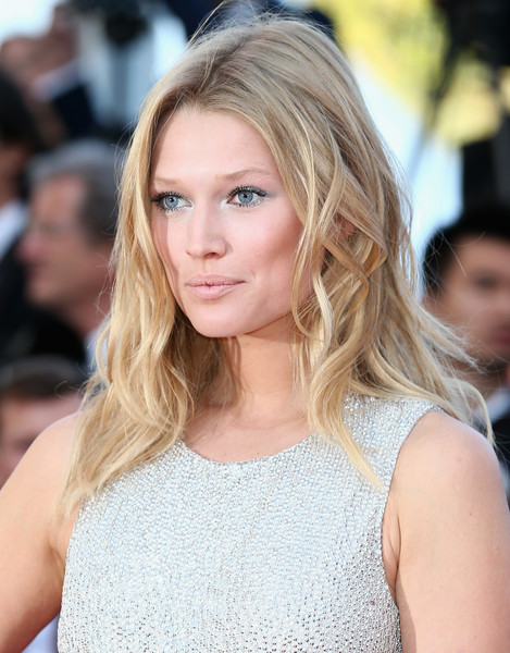 Toni Garrn Long Wavy Cut [the little prince,hair,blond,face,hairstyle,eyebrow,long hair,beauty,lip,brown hair,layered hair,premiere,toni garrn,cannes,france,the 68th annual cannes film festival]