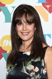 Kelly Preston sported a classic straight hairstyle with wispy bangs during Tony Bennett's 90th birthday party.