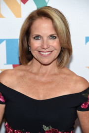 Katie Couric attended Tony Bennett's 90th birthday party wearing her usual bob.