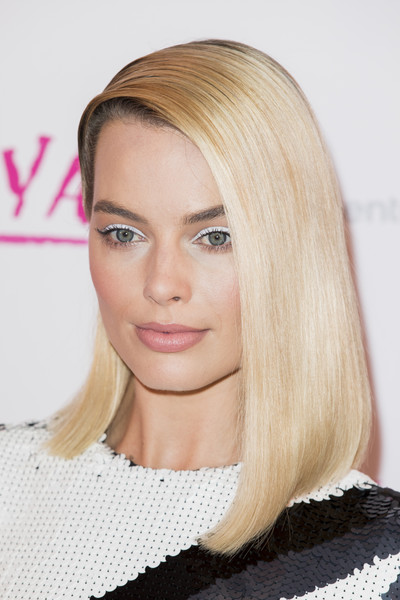 More Pics of Margot Robbie Asymmetrical Cut (1 of 10) - Margot Robbie Lookbook - StyleBistro [hair,face,blond,hairstyle,eyebrow,lip,hair coloring,chin,long hair,beauty,red carpet arrivals,tonya,margot robbie,uk,england,london,the curzon mayfair,premiere,premiere]