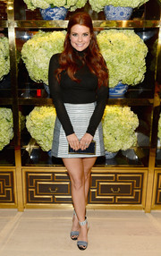 Joanna Garcia-Swisher was retro-chic in a black turtleneck during the Tory Burch Rodeo Drive opening.