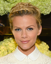Brooklyn Decker pulled her hair up into multiple braids for the Tory Burch Rodeo Drive opening.