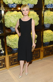 Valorie Curry kept it low-key in a simple LBD during the Tory Burch Rodeo Drive opening.