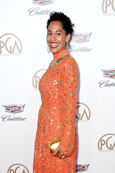 Tracee Ellis Ross Metallic Clutch