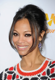 Zoe Saldana wore heavy sweeps of rich black eye liner and lots of mascara at The Trevor Project's 2011 Trevor Live!.