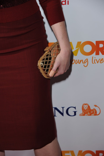 More Pics of Christina Hendricks Hard Case Clutch (3 of 9) - Christina Hendricks Lookbook - StyleBistro