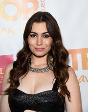 Sophie Simmons finished off her look with perfectly sculpted waves when she attended the TrevorLIVE LA event.