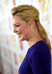 Katherine Heigl wore her blonde locks in a messy-glam ponytail during the TrevorLIVE LA event.