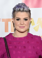 Kelly Osbourne continued to reinvent the fauxhawk with this safety pin-embellished, braided style she wore to the TrevorLIVE LA event.