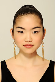Grace Song wore her hair swept back into a dramatic classic bun for the 2012 Tribeca Film Festival.