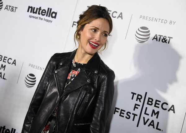 More Pics of Rose Byrne Messy Updo (1 of 3) - Rose Byrne Lookbook - StyleBistro [premiere of hair,photo,leather,premiere,outerwear,jacket,textile,leather jacket,carpet,style,black hair,fashion design,rose byrne,angela weiss,sva theater,new york city,afp,tribeca film festival]