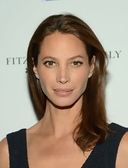 In true model fashion, Christy Turlington let her natural beauty shine with a fresh face at a special screening of 'The Fitzgerald Family Christmas.'