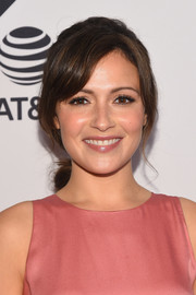 Italia Ricci looked sweet with her loose ponytail and side-swept bangs at the Tribeca TV Festival premiere of 'Designated Survivor.'