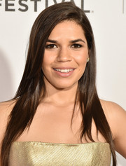 America Ferrera looked elegant with her sleek side-parted 'do at the 'Special Correspondents' premiere.
