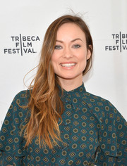 Olivia Wilde attended the Tribeca Talks: Master Class event wearing an 'unstyled' side sweep.