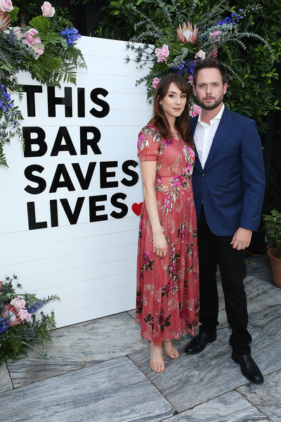 Troian Bellisario Print Dress [formal wear,fashion,dress,event,ceremony,fun,suit,wedding,gown,photography,patrick adams,troian bellisario,l-r,ysabel,west hollywood,california,bar saves lives press,launch party,this bar saves lives press launch party]